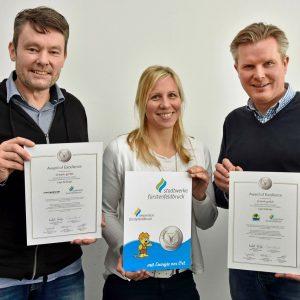 Wolda Award of Excellence 2017 in der Kategorie Logo Redesign für das Logo der Stadtwerke und der Amperoase Fürstenfeldbruck.