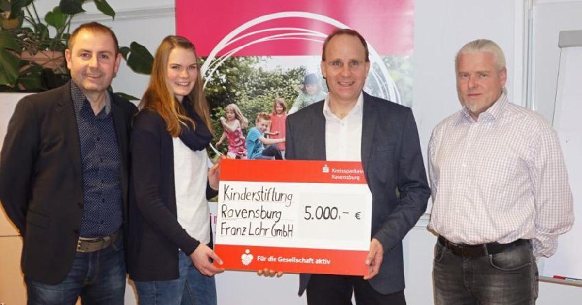 Kinderstiftung Ravensburg erhält Spende