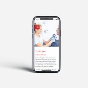 Ambulantes Pflegezentrum Oberschwaben – Website Leistungen