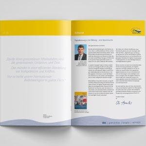 Beispielseiten des Geschäftsberichts der IBK