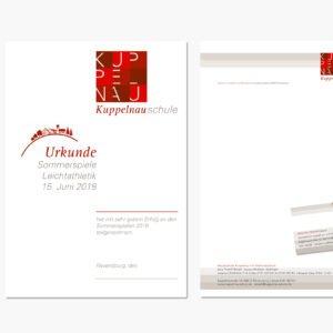 Briefpapier, Visitenkarte, Urkunde