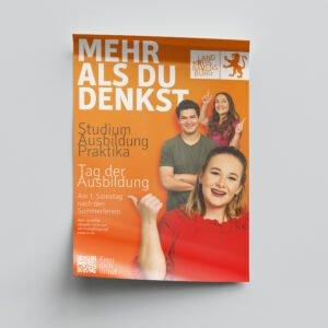 Recruiting Landkreis Ravensburg – Plakat Auszubildende