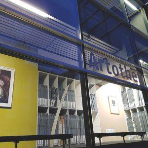 Jüngere Projekte waren die Ausgestaltung der Artothek im Medienhaus