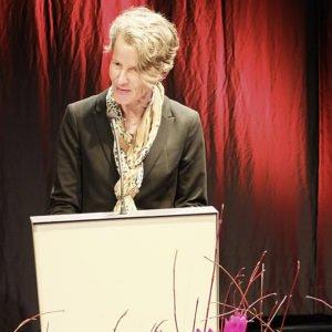 Sabine Giebeler während ihrer Rede anlässlich des Festaktes