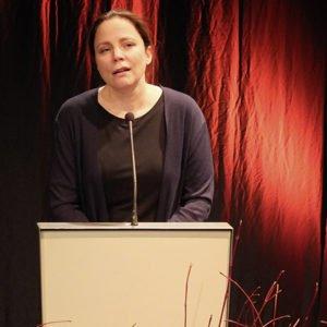 Thea Dorn, die bekannte Schriftstellerin und ein Mitglied des Literarischen Quartetts, hielt den Festvortrag