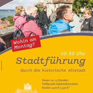 Meersburg, Plakat Stadtführung