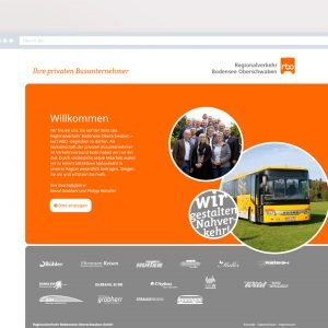 RBO – Website Willkommensbildschirm