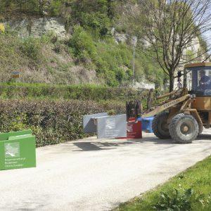 Aufbau der Bänke für die Landesgartenschau 2020 in Überlingen