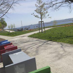 Bänke-Installation auf der Landesgartenschau Überlingen 2020