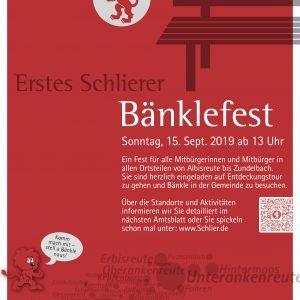 Plakat für das Erste Schlierer Bänklefest