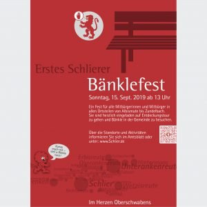 Gemeinde Schlier, Plakat für das Bänklefest 2019