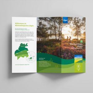 Wandertrilogie Allgäu – Faltblatt zur  Wiesengänger Route
