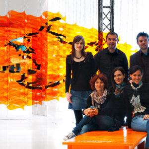 """ADAM 2010: Bronze in der Kategorie """"S"""" für den Messeauftritt """"...gegen den Strom schwimmen"""" auf der vlow!10. Außerdem nominiert für den Deutschen Designpreis 2012"""