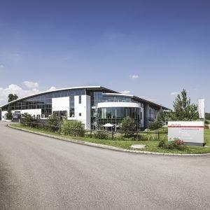Das Firmengebäude von AMT