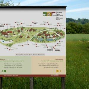 Bauernhaus-Museum Wolfegg – Lageplan