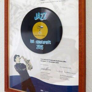IBK Förderpreis Jazz 2015 –  Urkunde