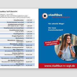 stadtbus – Tarifbroschüre