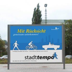 """Stadttempo – Kampagne """"miteinander"""""""