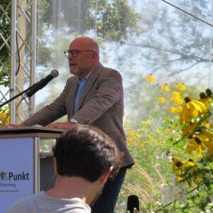Verkehrsminister Winfried Hermann bei seiner Eröffnungsrede