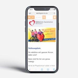Sozialstationen Website mobile Ansicht Feierabend