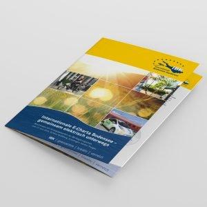 Die e-Charta der IBK wurde als Faltblatt gestaltet
