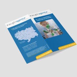 Energieagentur – Faltblatt