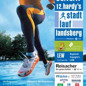 """Plakat Stadtlauf von """"Hardy`s Freizeit""""; Anzeigengestaltung für Stadtwerke Fürstenfeldbruck: d-werk"""