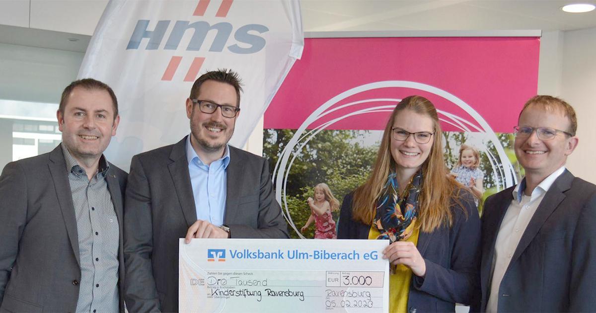 Spende für die Kinderstiftung Ravensburg