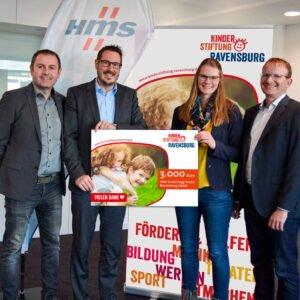 Spendenübergabe der Firma HMS an die Kinderstiftung Ravensburg
