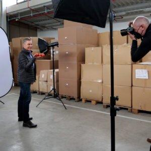 Das Making-of des Foto-Shootings