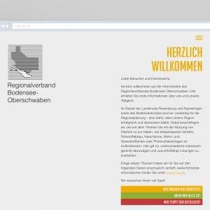 Screendesign der RVBO-Website in Verbindung mit der Bänke-Installation auf der Landesgartenschau Überlingen 2020