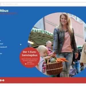 Übersichtliche Startseite der neuen Stadtbus-Website