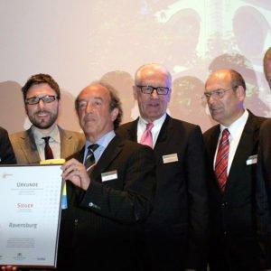 Das Marketingkonzept der Stadt Ravensburg wird mit dem Stadtmarketing-Preis 2009 ausgezeichnet