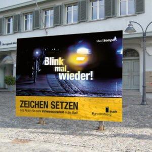 """Stadttempo – Kampagne """"Zeichen setzen"""""""