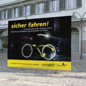 """Stadttempo – Kampagne """"sicher fahren"""""""