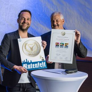 Wolda Award of Excellence 2017 in der Kategorie Identity für das Corporate Design des Ravensburger Rutenfestes.