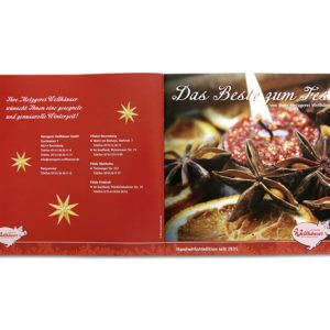 Weihnachtsfolder Umschlag